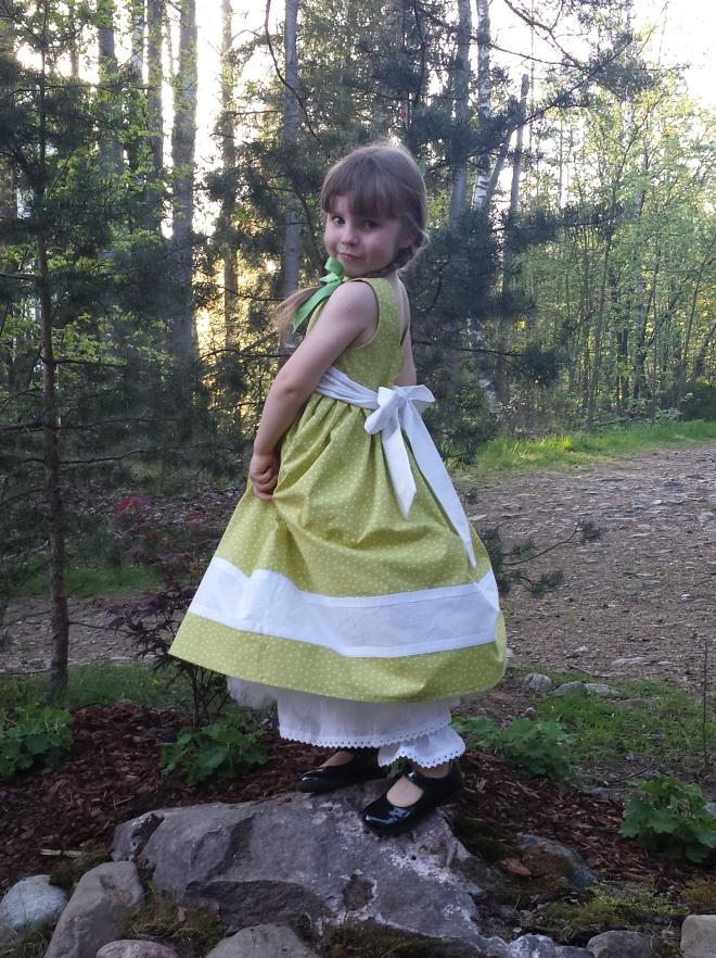 Olabelhe Miranda dress sewn by me, back view.