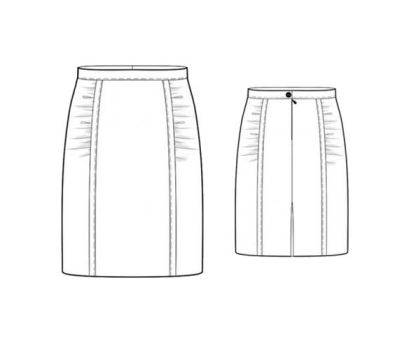 gathered_skirt